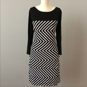 Optical layer White House Black Market Dress - L
